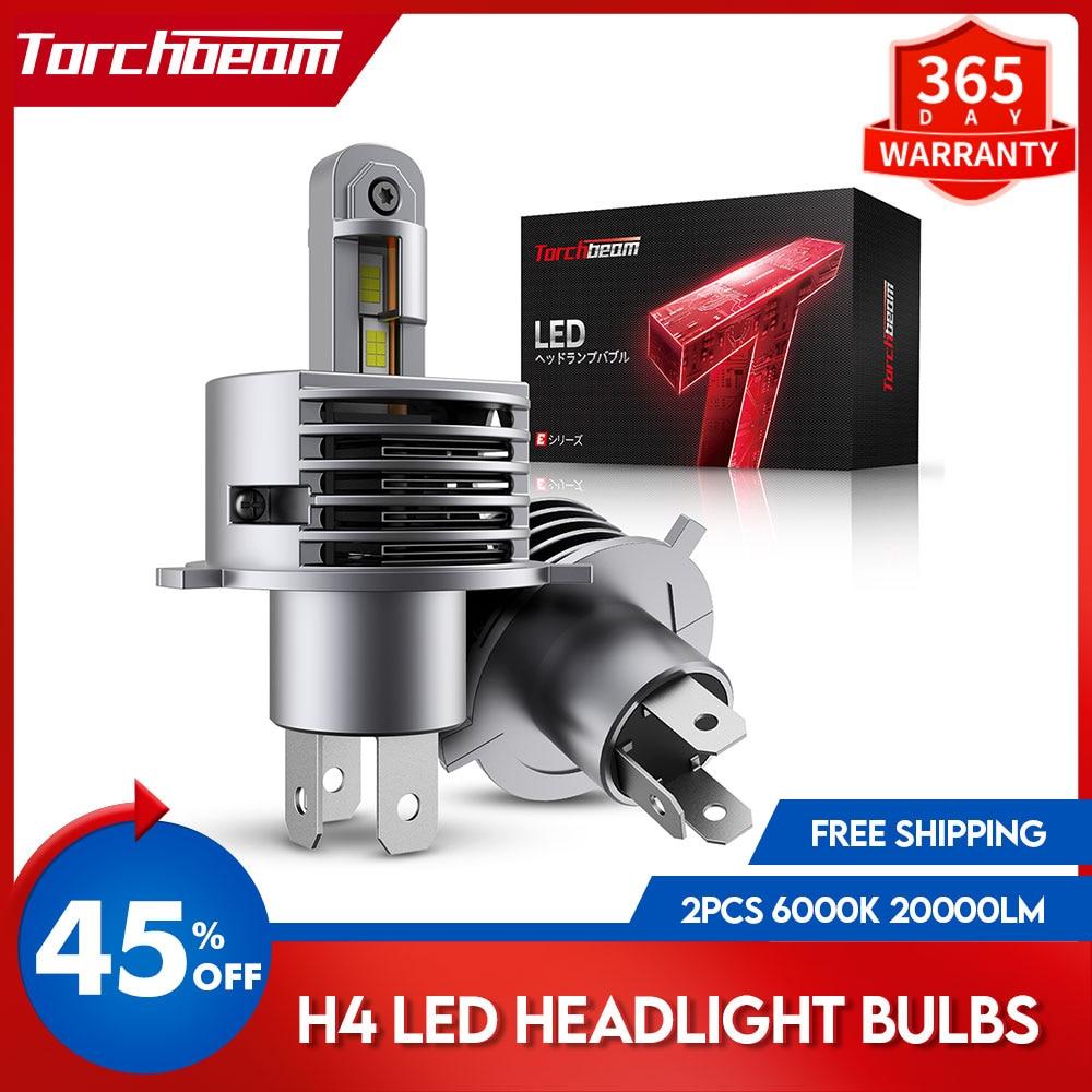 Torchbeam 2Pcs H4 LED Headlight Bulb 12V 35W 6000K White Auto HB2 Headlamp Car Light Bulbs Hi/Lo Beam LED Lamps Kit High Quality