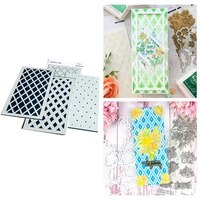 square rhombus no cutting dies and stamps plastic stencil for scrapbooking diy decoration album card making craft template