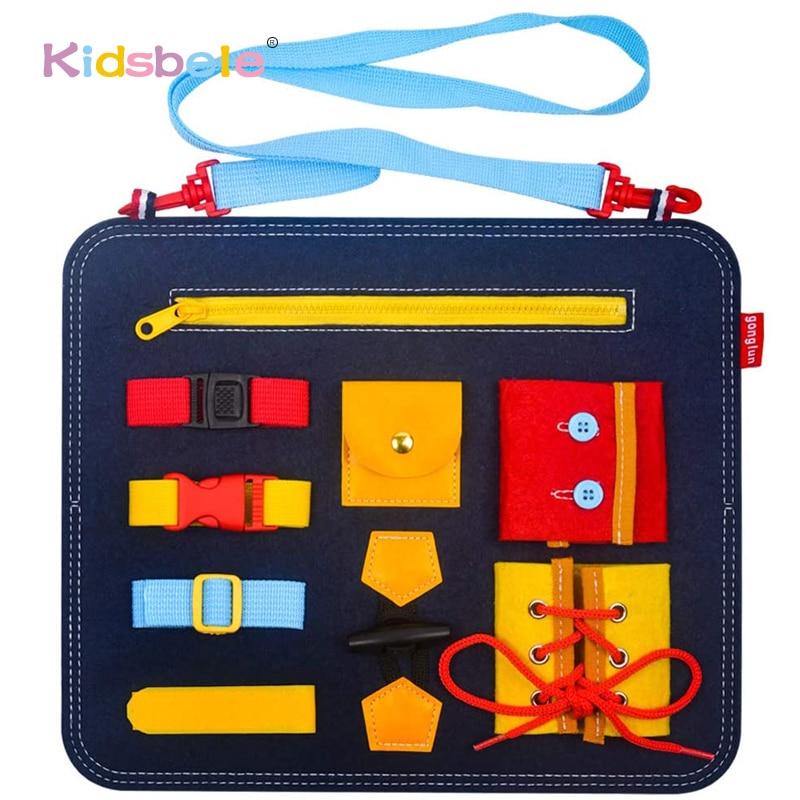 Toddler Montessori Toys Educational Fine Motor Skills Training Learn To Dress Basic Skills Busy Boar