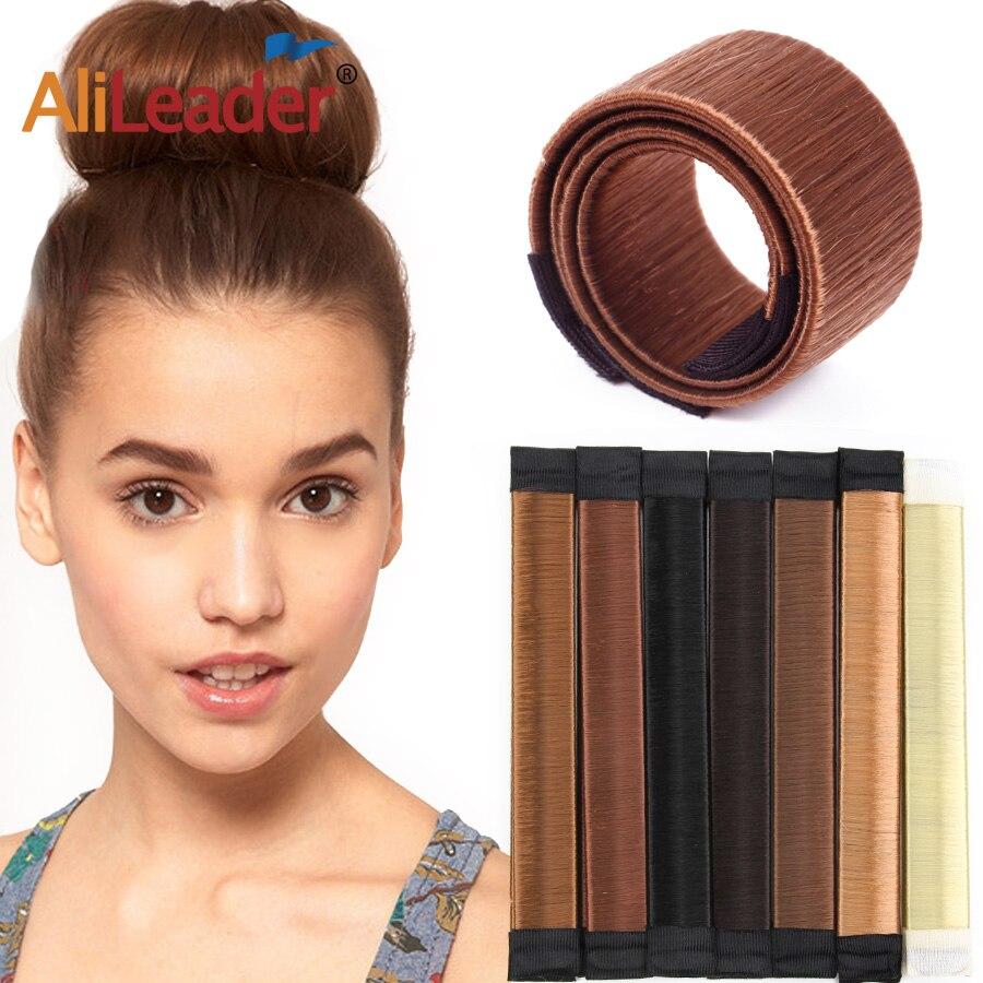 Alileader novo donut bandana acessórios para o cabelo feminino menina magia do cabelo diy ferramenta bun maker doce prato francês feito faixa de cabelo