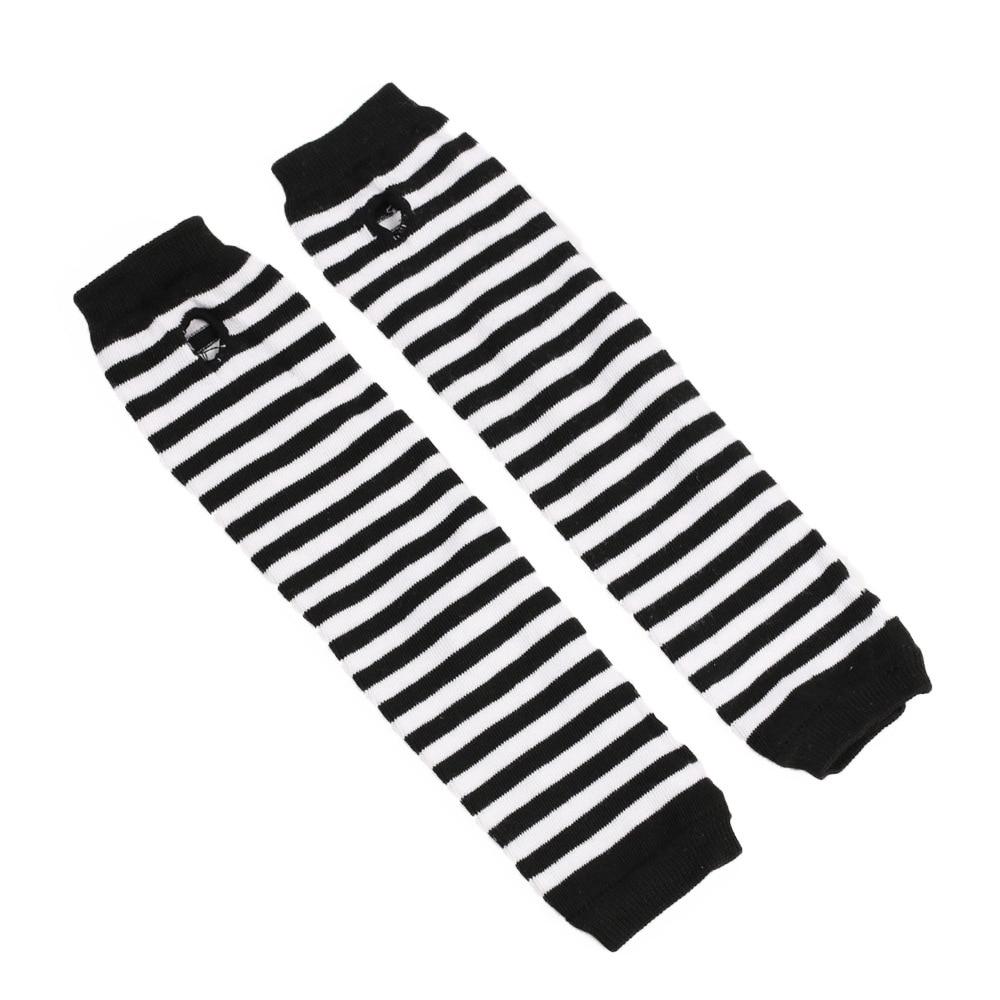 Модные длинные женские перчатки эластичный вязаный полосатый кардиган перчатки без пальцев теплые митенки женские перчатки для езды на ве...