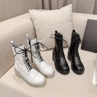 2021 autumn british style female martin boots thick soled single boots motorcycle short boots fashion casual boots womens shoes