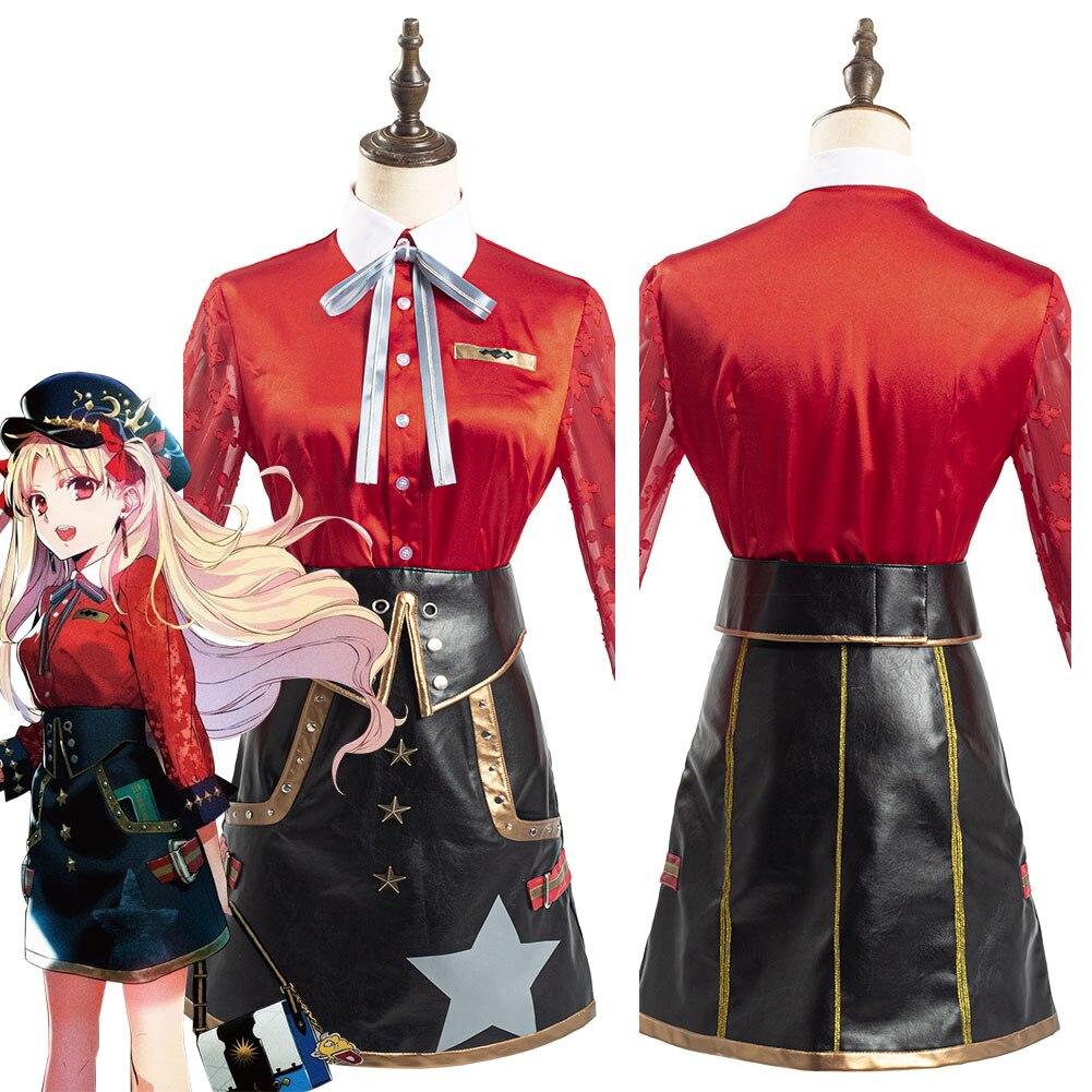 Traje de Cosplay de Ereshkigal FGO Fate Grand Order, traje de falda roja para mujer, trajes de Carnaval de Halloween