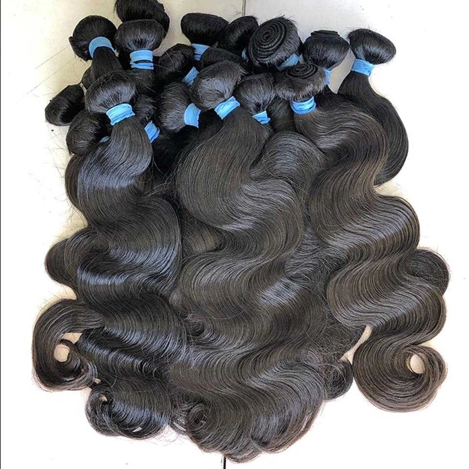 Body Wave bundles human hair Brazilian Natural Black Hair Weave 3/4 PCS Remy Human Hair Bundles Deal