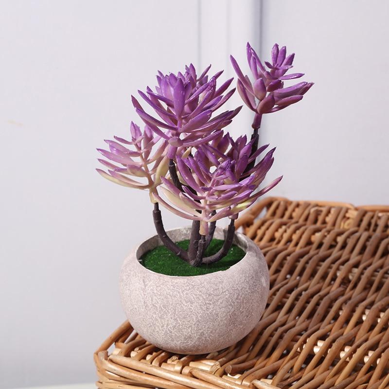 Retro Natural Degradation Pulp Pot Simulation Green Plant Begonia Flower Bonsai Home Furnishing Simulation Plant Bonsai