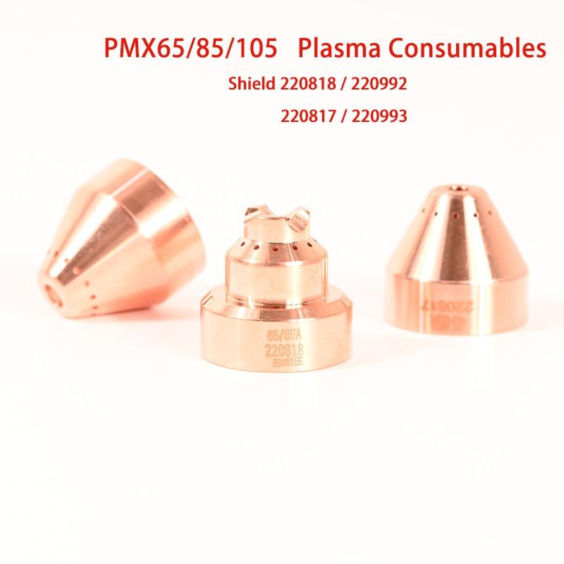 고품질 PMX 65A 85A 105A 플라즈마 절단기 소모품 실드, 220818 220992 220817 220993