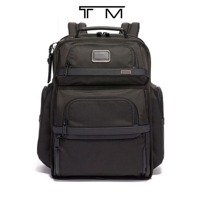 Ballistic nylon men's black business backpack computer bag backpack 02603578D3