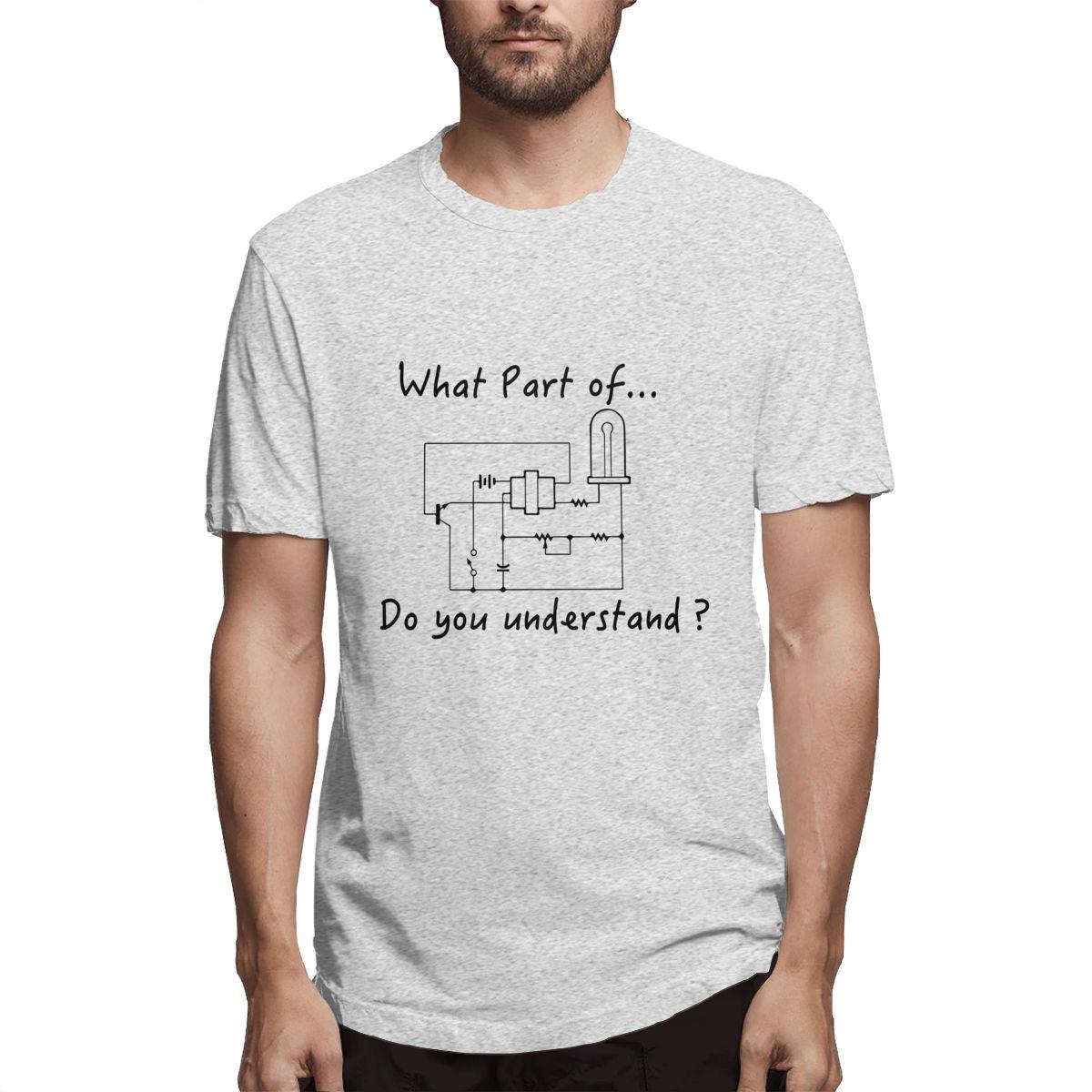 Camiseta de alta calidad para hombre, Camiseta holgada de nuevo diseño estilo callejero qué parte del circuito impreso para hombre, camiseta informal de manga corta de algodón