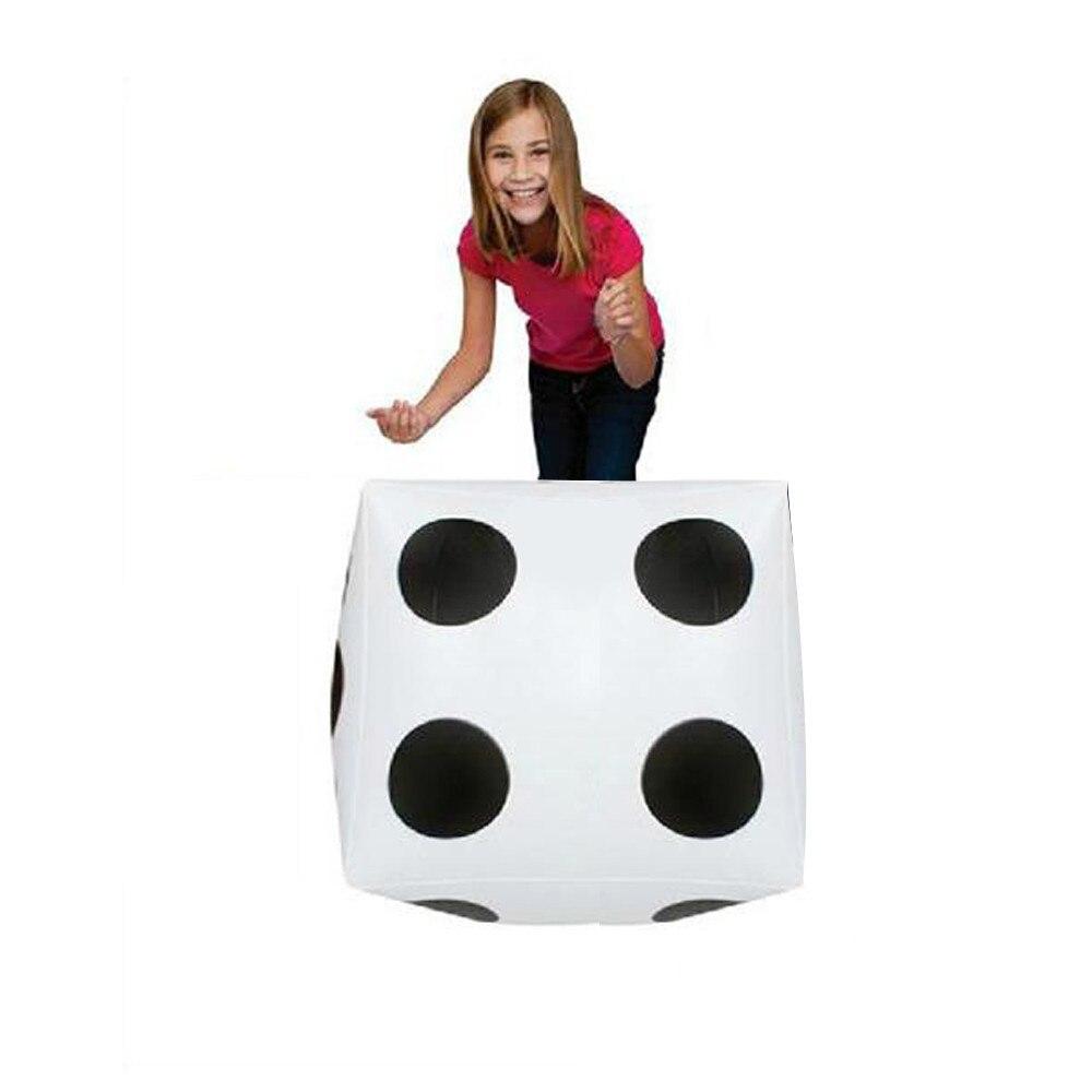 Jumbo Dice-gran juguete inflable, blanco grande, Diagonal, Castillo Hinchable, Flotador Gigante, 28cm