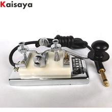 Military Room Escape movie props shortwave radio CW Morse telegraph key K4 K-4 heavy key C6-010