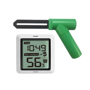 For Plants Garden With Time Display Soil Moisture Tester Digital Portable Monitor Screen Humidity Meter Sensor Receiver Farming