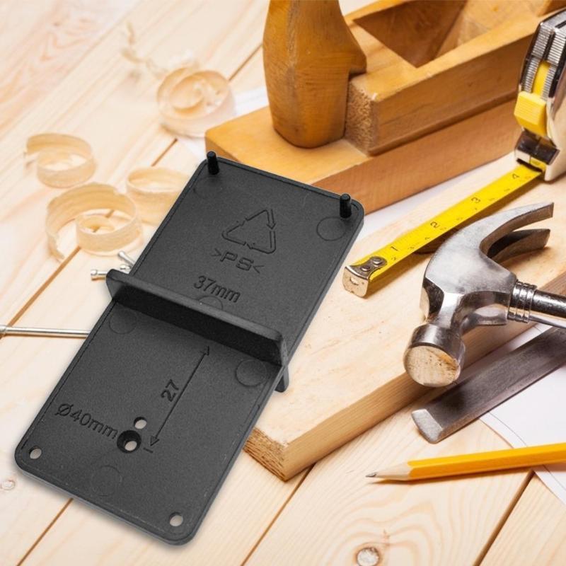 Trabajo de la madera bisagra taladro cajón perforadora broca guía puerta taladro bisagra instalación proporciona rápido marcado