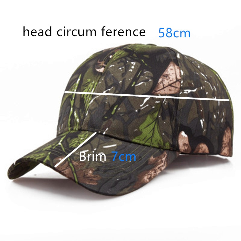 New Tactical Camouflage Outdoor Sport Hunting Cap Men Snapback Jungle Stripe Hat Wild Breathable Military Army Camo Caps