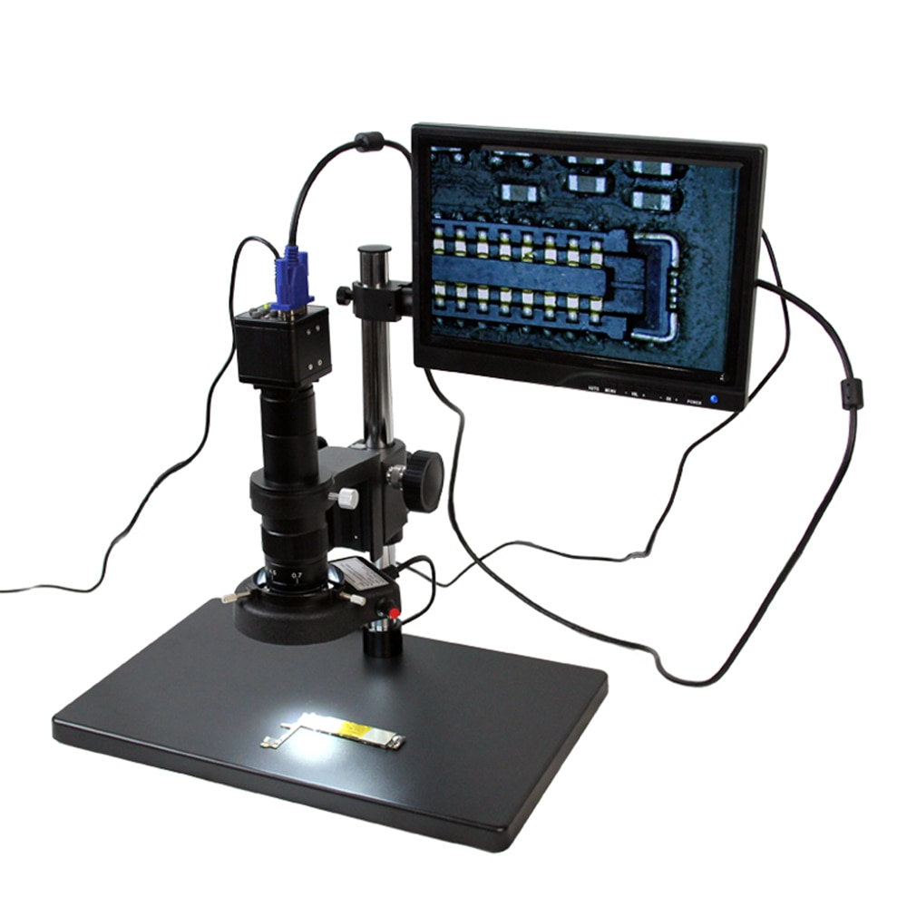 TBK-مجهر احترافي لسطح المكتب ، 10-180x HD ، احترافي ، لصيانة وحدة المعالجة المركزية Iphone BGA ، فيديو صناعي