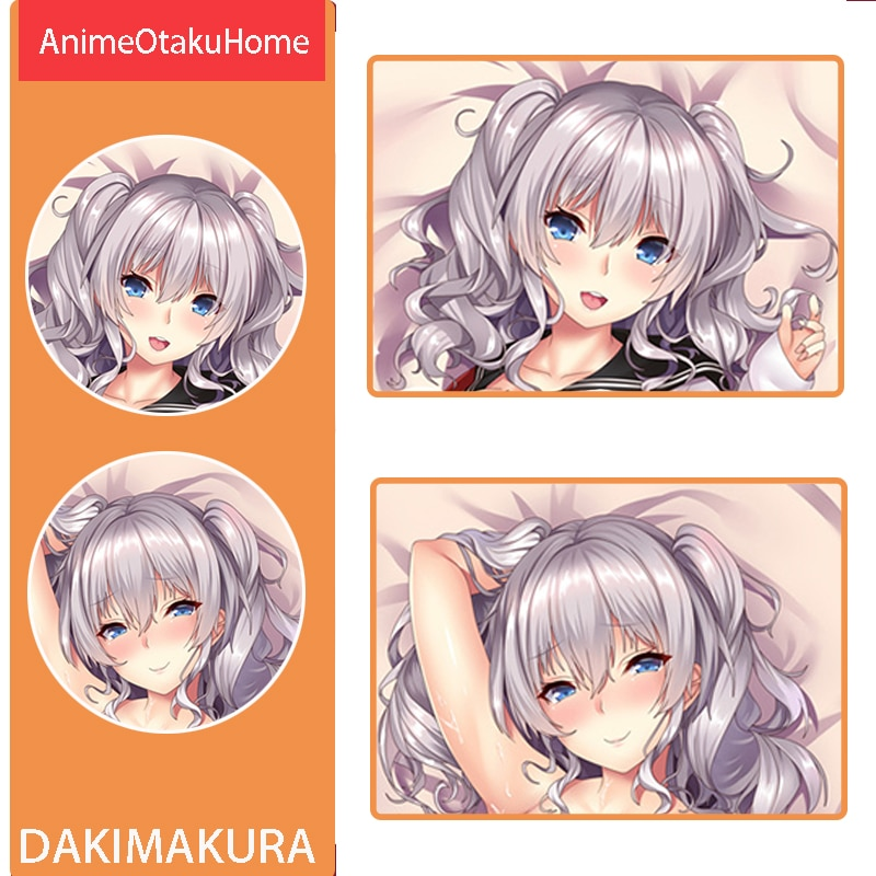 أنيمي كانتاي جمع Kashima مثير فتاة جميلة رمي غطاء وسادة المعانقة الجسم المخدة Otaku الفراش الديكور Dakimakura