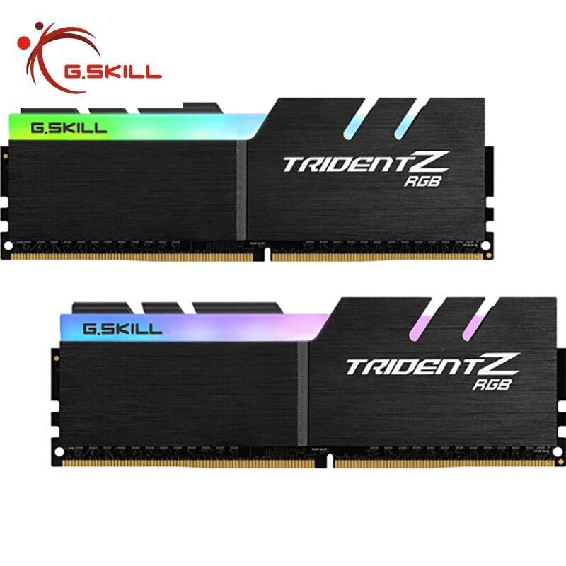 G. مهارة ترايدنت Z RGB سلسلة 16GB/32GB DDR4 3200Mhz/3600MHz DIMM CL16/18 2x 8GB/2x16GB عدة قنوات مزدوجة