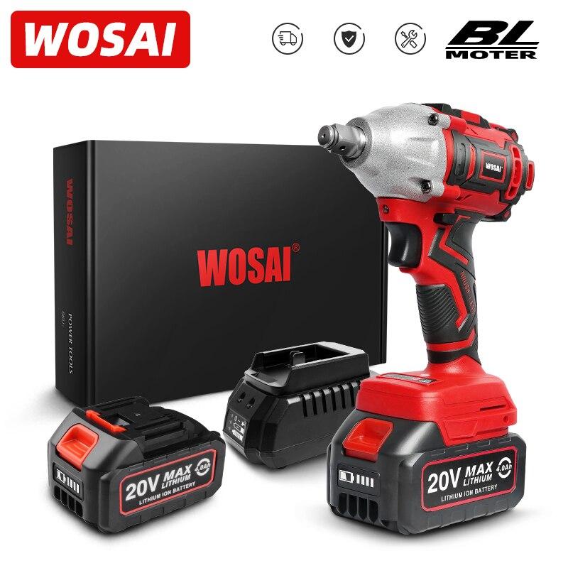 WOSAI MT serie taladro de llave de impacto eléctrico 20V llave sin escobillas batería de ion de litio llave sin cable Socket instalación herramientas eléctricas