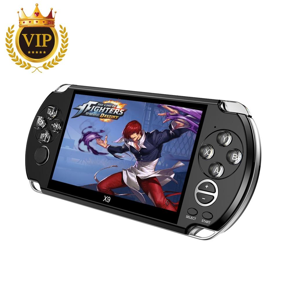 Sitio web ViP enlace para Video consola de juegos Retro X9 PSVita mando de juegos para PSP Viat Retro Juegos 5,0 pulgadas pantalla TV Out