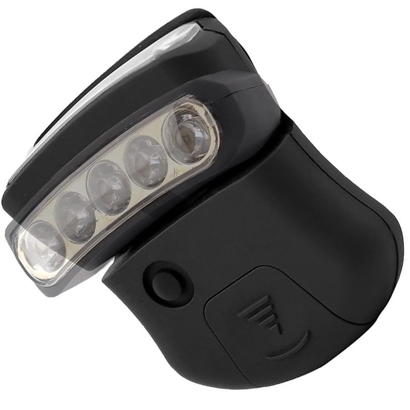 Impermeable portátil para acampar al aire libre, 5 LED, lámpara con tapa con Clip, lámpara de cabeza, linterna Led, luz para pescar y cazar