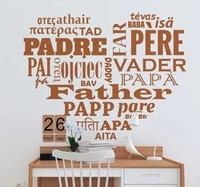 heart shaped spainsh quote wall sticker celebrate fathers day or simply wall decal for livingroom vinyl mural ru4048
