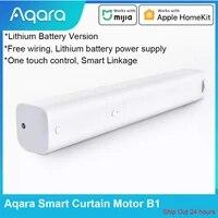 Aqara     moteur de rideau intelligent B1 Zibgee  Version batterie au Lithium  synchronisation electrique  telecommande APP  fonctionne avec application Mijia Apple HomeKit