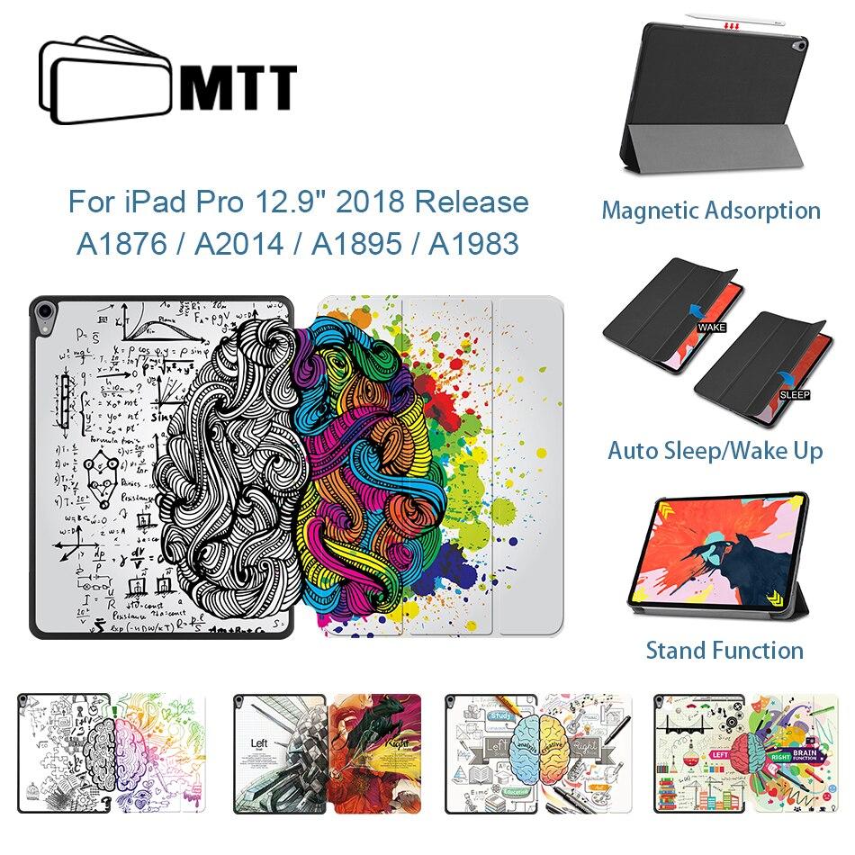 Funda MTT para iPad Pro 12,9 pulgadas 2018 3ª generación PU funda vertical de cuero dibujo animado Graffiti funda magnética inteligente carga inalámbrica