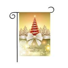 Décorations de noël série jardin drapeau extérieur décoratif suspendu hiver saisonnier vacances cour jardin décor
