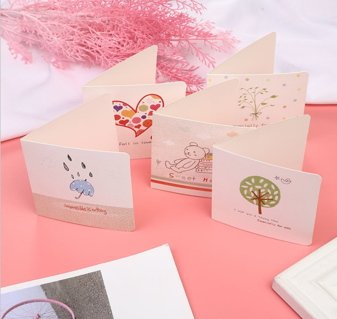 Customized Paper Card, 100x100mm paper card, 350gsm C2S, print 4c x 1c (black). 5,000 pieces of cards, ship to Dongguang