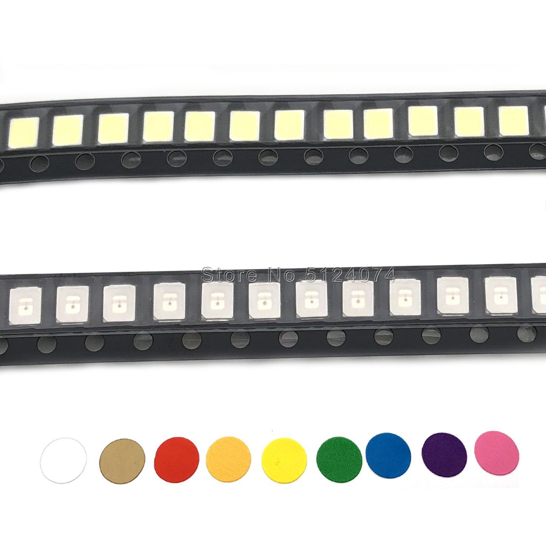 4000/rollo de 2835 LED 0,2 W SMD de blanco cálido/blanco frío/RGB/rojo/naranja /amarillo/verde/azul hielo/púrpura UV/diodo emisor de luz rosa