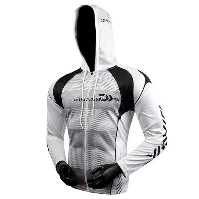 2021 Men Fishing Clothing Long Sleeve Outdoor Breathable Fishing Shirts Anti UV Hooded Fishing Clothes Cycling Hiking Jackets