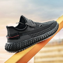 350 Coconut casual sports shoes Mesh running men's shoes Breathable mesh shoes Summer Ultra-light Br