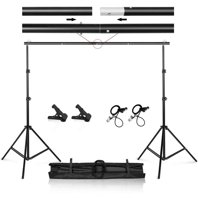 Фото-и Видеостудия 9,8 футов регулируемая подставка для фона комплект системы поддержки с сумкой для переноски