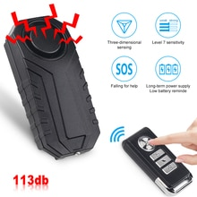 Waterproof Bike Anti-Theft Alarm Wireless Remote Control Motorcycle Bicycle Security Alarm 113dB Ele