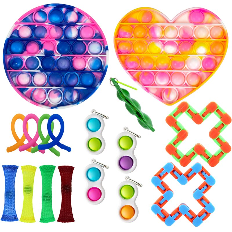 Push Bubble Fidget Sensory Anti Stress Set Stretchy Antistres Strings Relief Anxiety Toy Pack Anti-Stress For Kid Adul Gift Toys enlarge