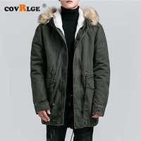 covrlge 2019 top quality warm mens warm winter jacket windproof casual outerwear thick medium long coat men parka mwm096
