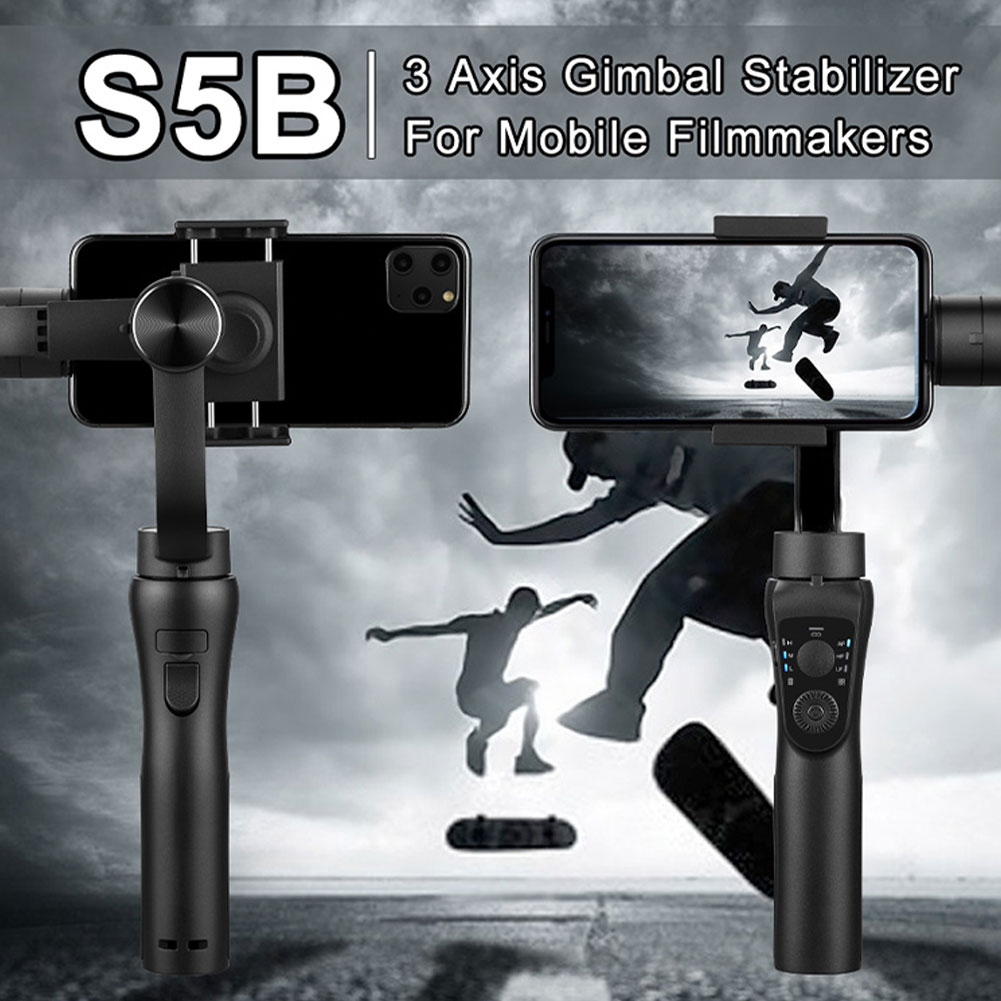 S5B 3 Axis Handheld Gimbal Stabilizer Cellphone Video Record Smartphone Gimbal For Phone Action Camera VS H4  For Phone Go Pro