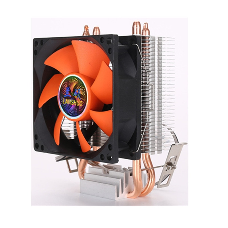 8cm mini cpu cooler 2 heatpipes pc cpu cooler dissipador de calor ventilador de refrigeração do computador para lga 775/1155/1156 amd am2 amd3