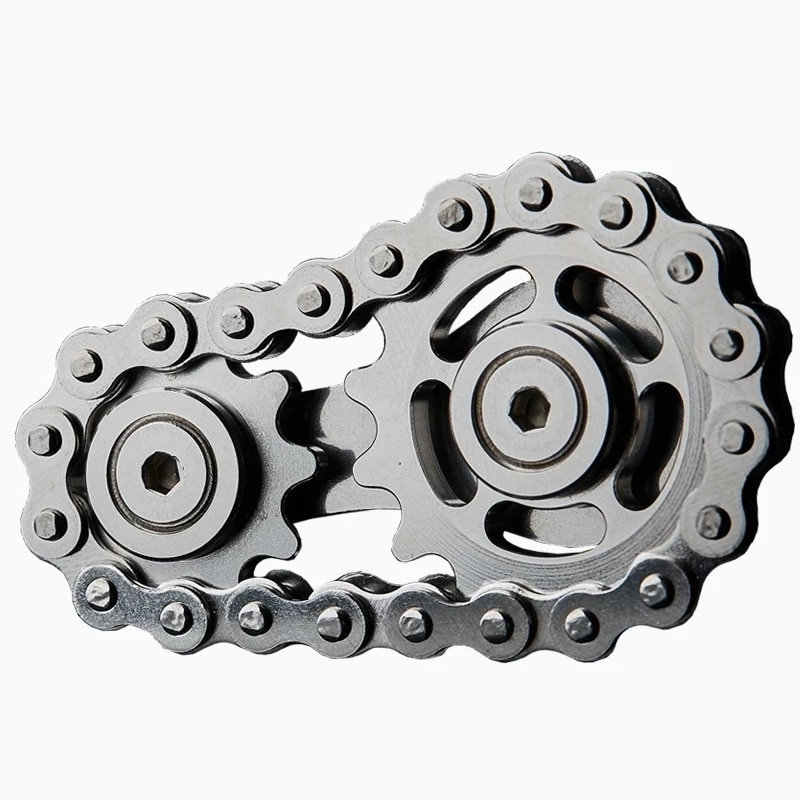 Sprockets Flywheel Fingertip Gyro Sprockets Chains EDC Metal Toy Gear Chain Gyro Drop Ship Sproket Road Bike Spinner Gift enlarge