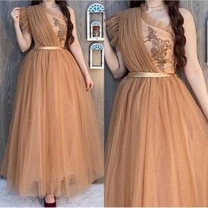 Elegant Long One Shoulder Pleated Prom Dresses with Pockets A-Line Floor Length Zipper Abendkleider Robes de Soirée for Women