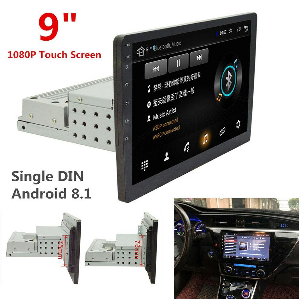 9 Inch GPS Navigation Touch Screen DVD Audio Rear Camera Single Din Bluetooth WiFi Auto HD Car Stereo Radio Multimedia Player FM