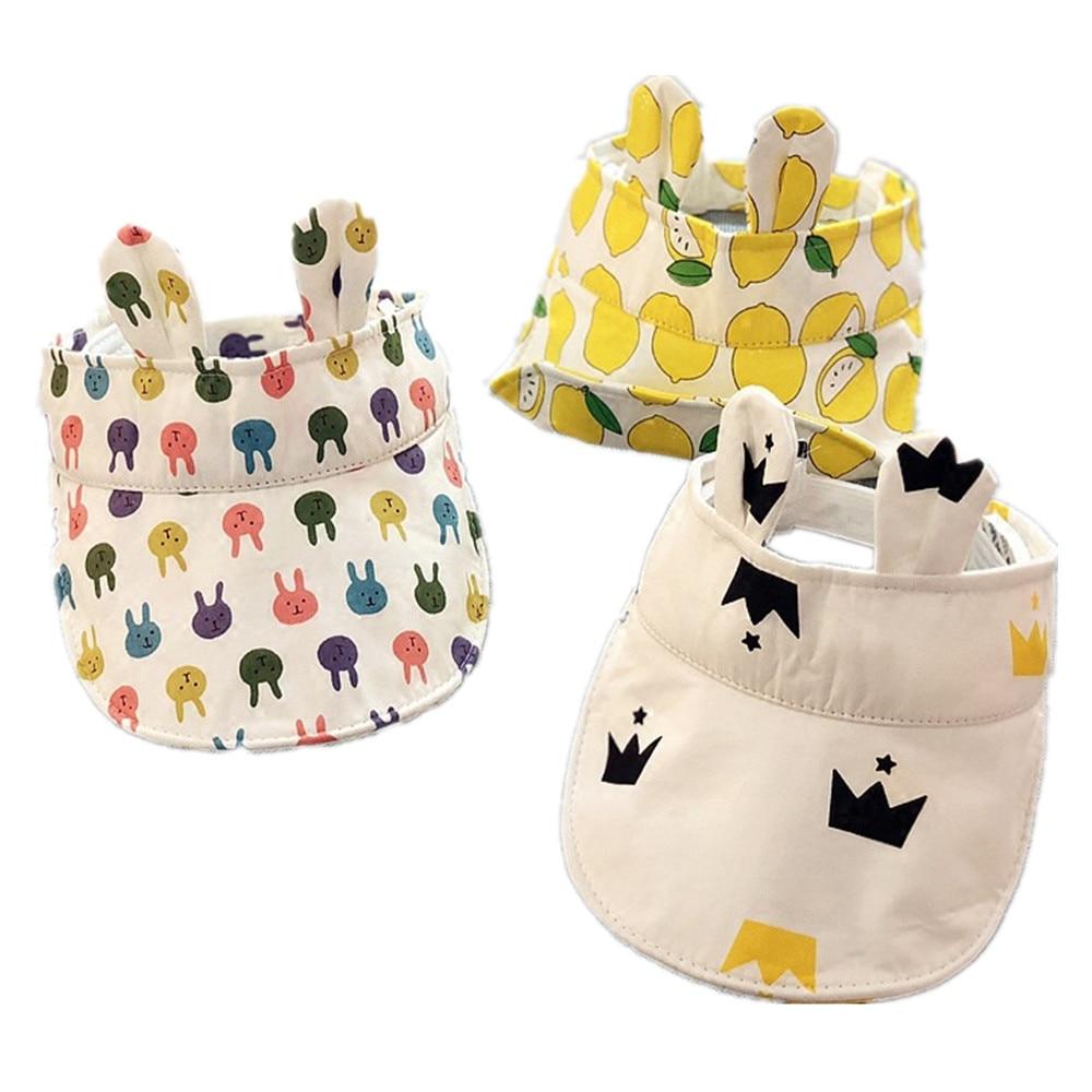 kids baby caps for summer Empty head kiss hat fo 6-24M sun block cute rabbit