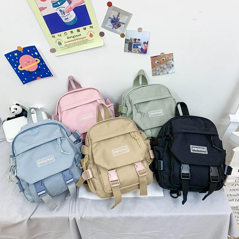 New Mini Women Backpack Fashion Small Women's Outing Backpack Korean Style Popular Casual Nylon Shou
