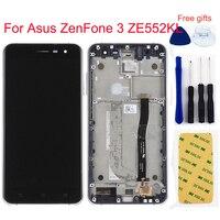 For Asus ZenFone 3 ZE552KL Z012D Z012DC Z012DA LCD Display Monitor Panel + Touch Screen Digitizer Sensor Panel Assembly Frame