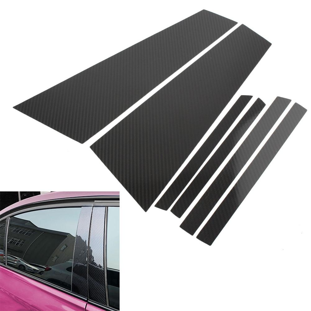 Cubierta protectora de moldura para BMW 5GT F07 2012 2013 2014 2015 2016 2017 6 unids/set de fibra de carbono