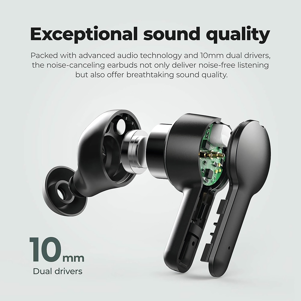Joyroom TA1 Active Noise Cancelling TWS 3D Stereo Wireless Earphone Earbuds ANC On/ Off Mode 35dB ANC Gaming Bluetooth Earphone enlarge