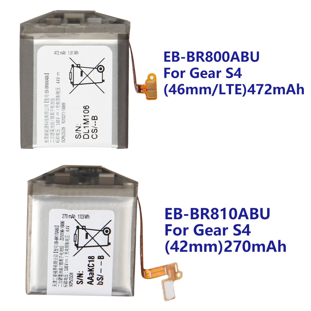 Samsung Original EB-BR800ABU Battery EB-BR170ABU EB-BR810ABU For Samsung Gear S4 SM-R800 SM-R810 R805 42mm 46mm Smart Watch enlarge