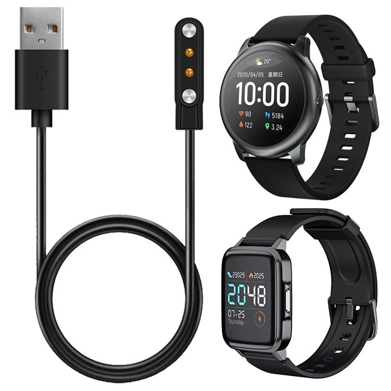 USB Chargers For Xiaomi Haylou Solar LS05/LS02/LS01 Smartwatch Dock Charger USB Charging Cable Base Cord Wire Accessories