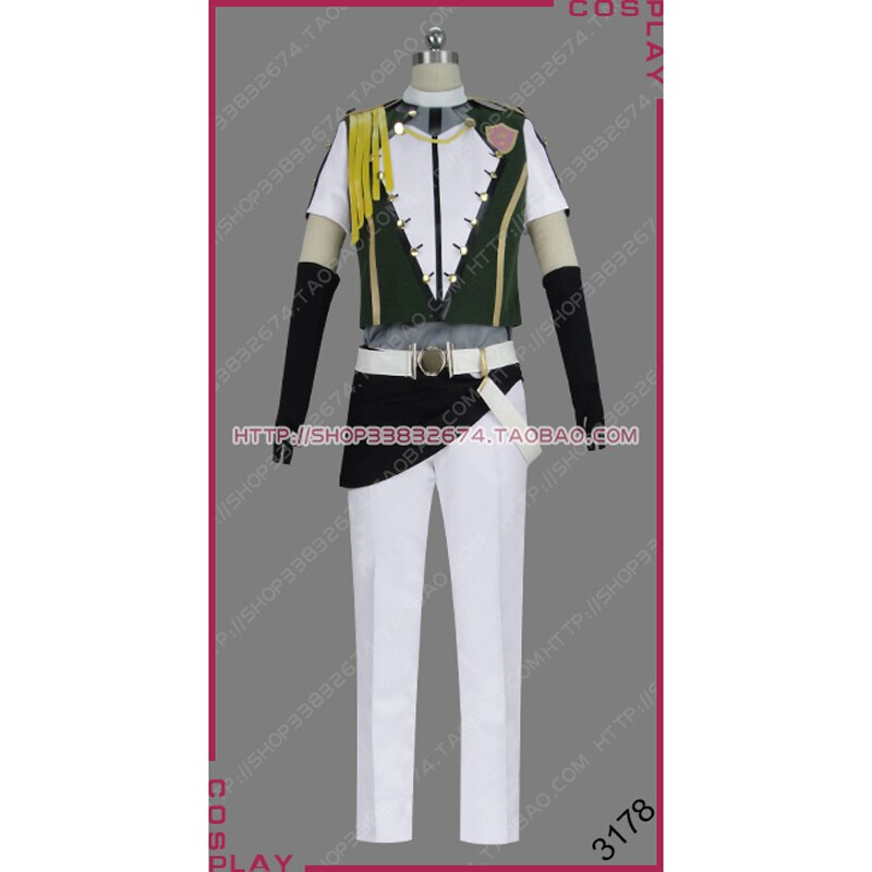Star-Myu, Starmyu, equipo Musical de la escuela secundaria, Hiragi Ugawa Akira, 2 ° SHOW de tiempo, camaleón Star Ver. Uniforme disfraz Cosplay S002