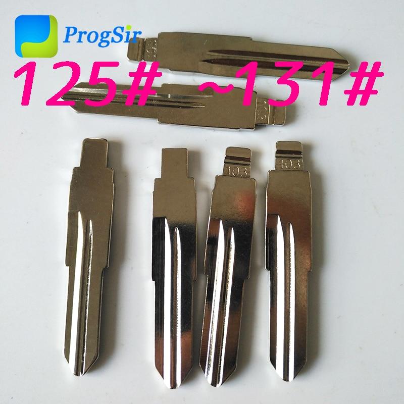 125 #126 #127 #128 #129 #130 #131 # sem corte lâmina em branco para kd vvdi remoto chave 10 pces/kit