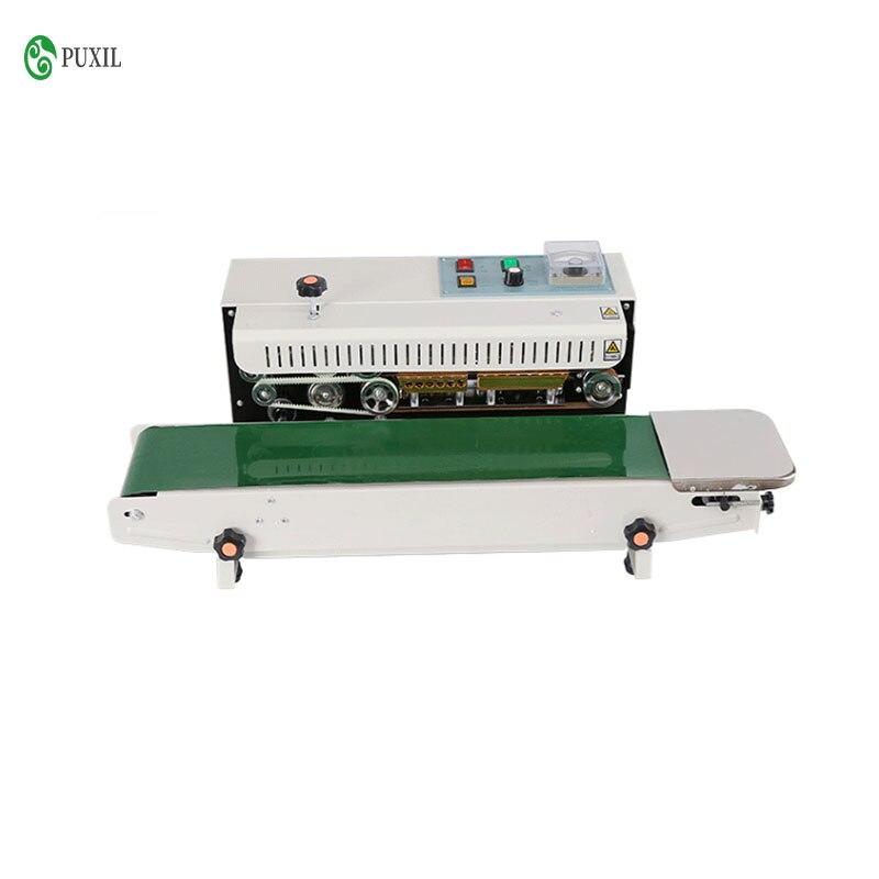 FR-900 المستمر التلقائي ماكينة تغليف ، 220V / 110V لفافة من ورق ألومنيوم التغليف ماكينة تعبئة الطعام